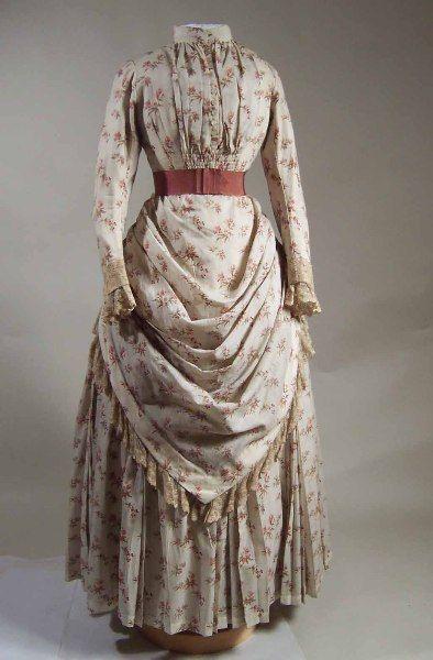 1887-1888 bustle Victorian fashion dress