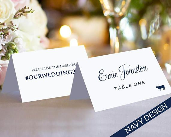 Pin On Place Card Templates