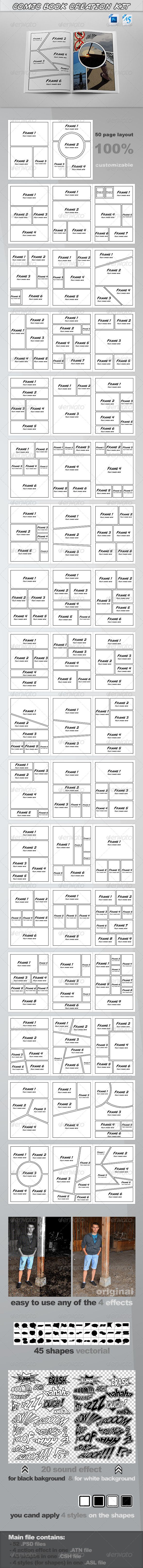 ComicBook Creation Kit - Artistic Photo Templates