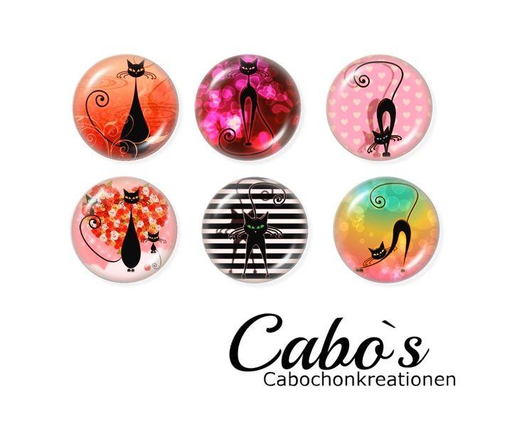 C1249/25 Cabochon Set  6x25mm round w Cabo`s - Kaboszony tworzenie na DaWanda.com