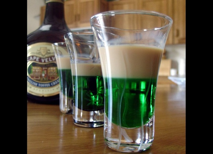 The springbok: one part creme de menthe, one part amarula cream liquer. Sounds like a recipe for a good time!