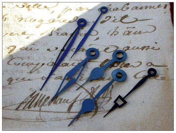 French antique 12pcs pocket watch hands clock by PARISOUIPARIS, $5.60