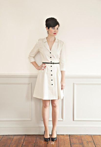 White Tree Fabrics   Sew Over it - Vintage Shirt Dress - Sew Over it - Pattern & Kits - Sewing Patterns