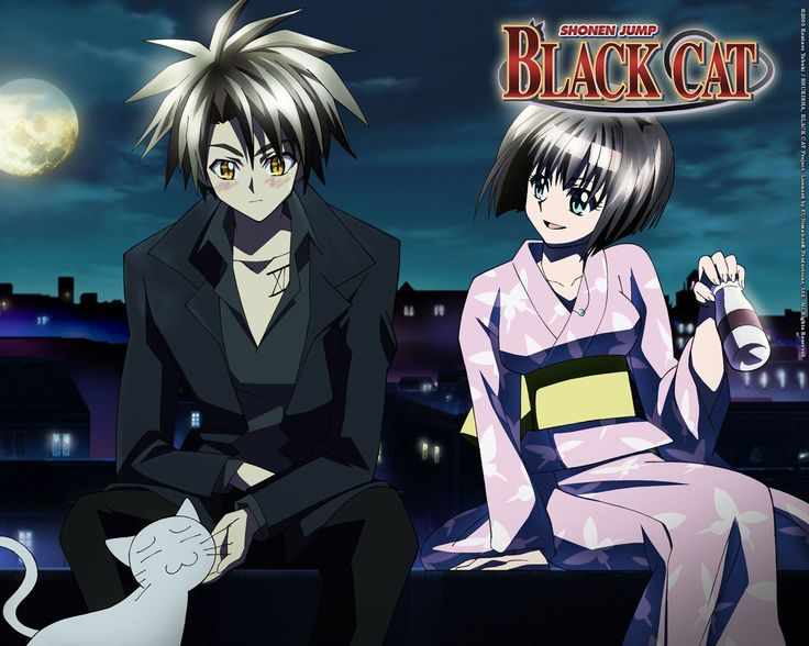 Black cat anime | anime girl wallpaper 4 girl with flowers anime wallp anime…