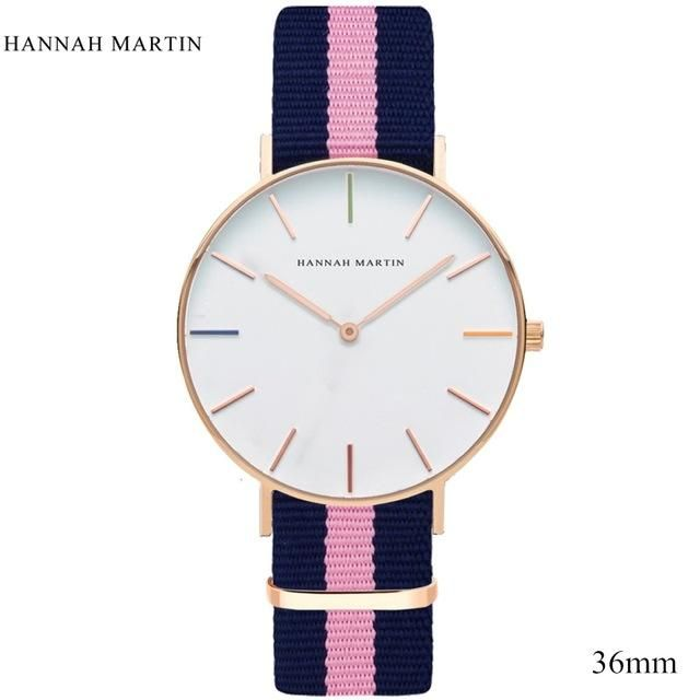Nylon watches rouge for women