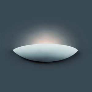 Applique blanche Faro en plâtre poli