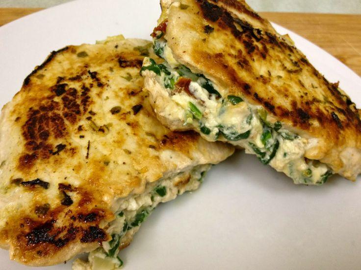 The Lifestyle Notebook : Feta, Spinach & Sun Dried Tomato Stuffed Pork Chop...