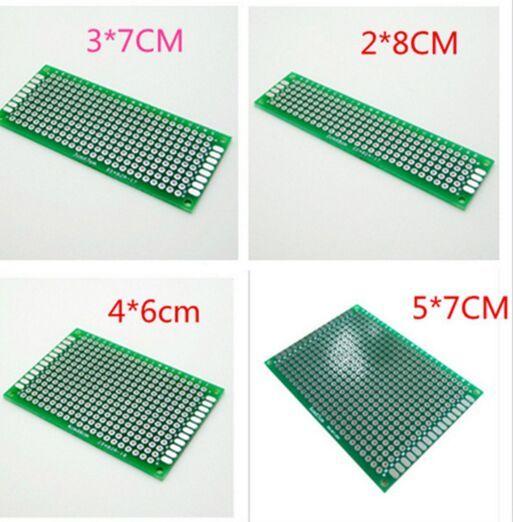 98-10 משלוח חינם 4 יחידות 5x7 4x6 3x7 2x8 cm pcb אב הטיפוס נחושת דו צדדי לוח אוניברסלי