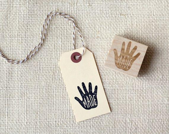 Rubber Stamp Handmade van witandwhistle op Etsy