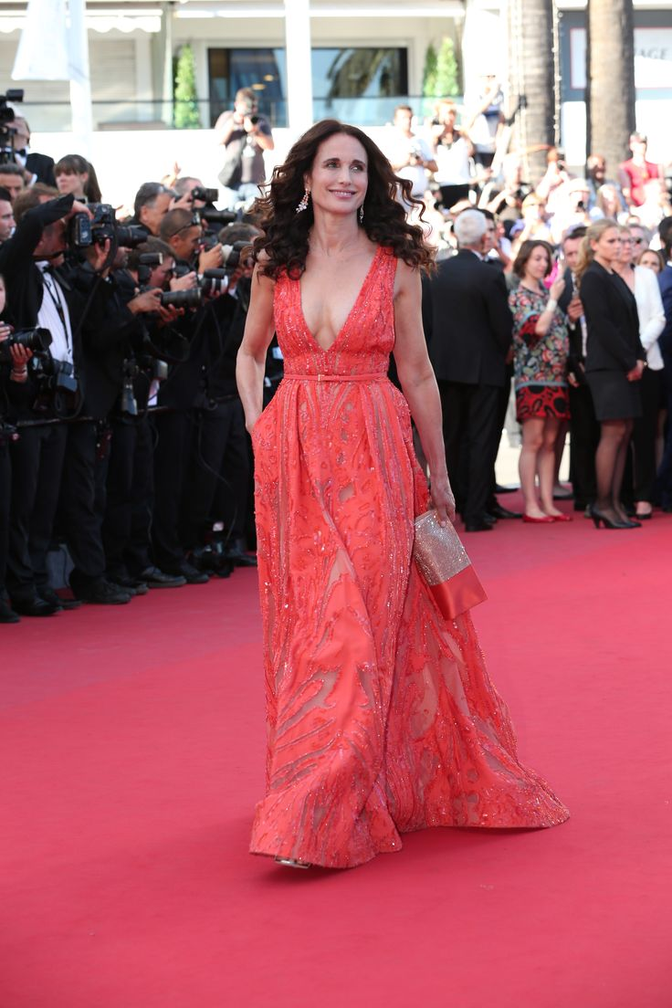 Andie MacDowell walks the Red carpet during the 68th annual Cannes Film Festival on May 18, 2015 in Cannes, France.