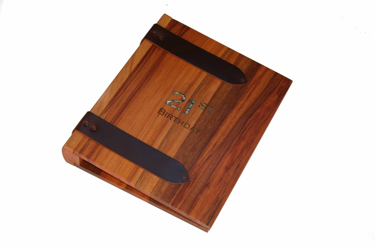 timber book with ringbinder