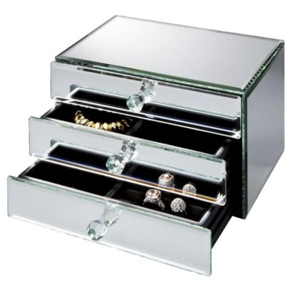 Mirrored jewelry box from target i need fashion for Mirror jewelry box