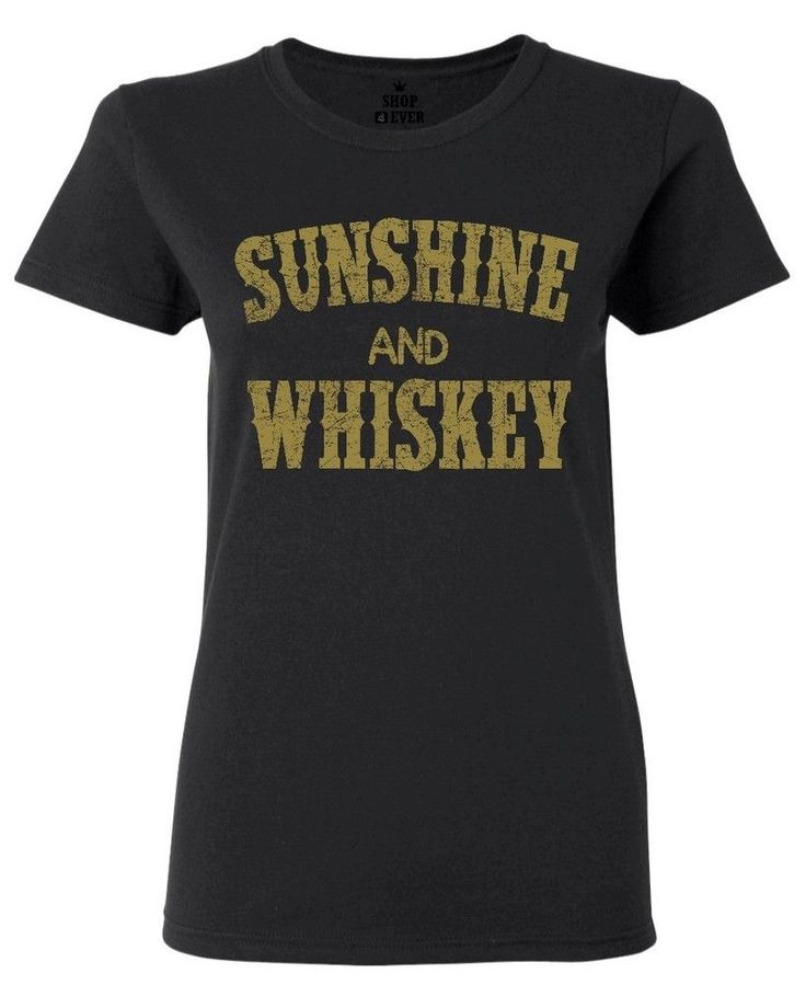 >> Click to Buy << Sunshine and Whiskey Gold Women's T-Shirt Country Girl Southern T Shirts Women Lovely Style Hot Sale Shirt Brand Top Tee #Affiliate
