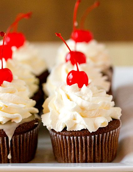 Cherry Coke Float Cupcakes | browneyedbaker.com #recipe