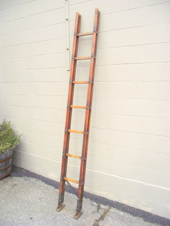 Antique Folding Fireman S Ladder Wooden Carry Pole Stick Ladder Collectible Firefighter Equipment Tool Memora Firefighter Equipment Ladder Industrial Gears