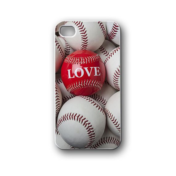 love baseball - iPhone 4,4S,5,5S,5C, Case - Samsung Galaxy S3,S4,NOTE,Mini, Cover, Accessories,Gift