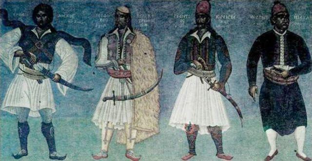 Διάκος, Κολοκοτρώνης, Καραϊσκάκης και Μιαούλης Δημαρχείο Αθήνας