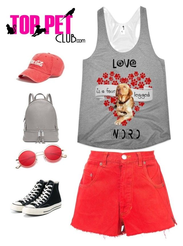 Customized Tank Top with Your Pet Photo by TopPetClub.com by toppetclub on Polyvore featuring polyvore, fashion, style, RE/DONE, Converse, Michael Kors, American Needle, clothing, Tank and customized