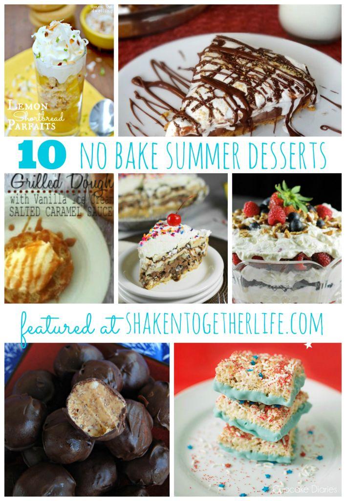 10 no bake desserts for summer featured at shakentogetherlife.com