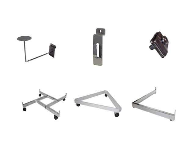 Full Series of Slatwall Accessories & Store Fixtures - http://idealdisplays.ca/04_slatwall_accessories.html