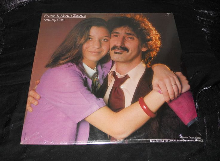 "Frank and Moon Zappa ""Valley Girl~You Are What You Is"" 12"" 45 vinyl SEALED MINT! #AlternativeIndieWestCoast"