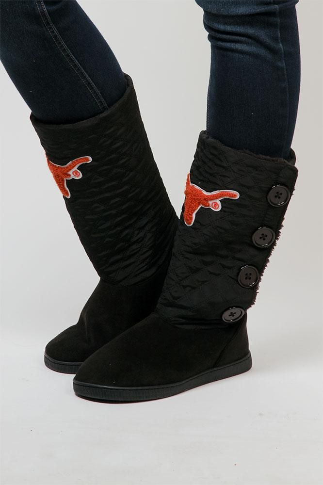 Prepare for cold weather and keep those toes warm! These Texas Longhorns nylon boots are the perfect footwear for comfort and game days! Order yours today!