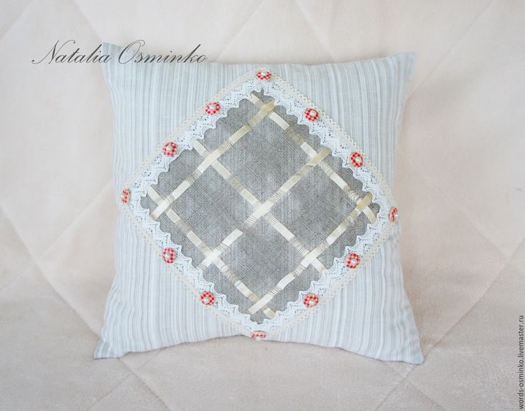 Купить Подушка (в наличии) 35х35 см / льняная подушка/ декоративная подушка - бежевый