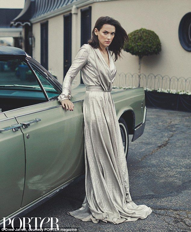 A vision in silver: Winona Ryder looks stunning in a Blumarine gown as she speaks about her 2001 shoplifting arrest in the new issue of Porter magazine