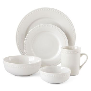 jcpenney.com | JCPenney Home™ Beaded 40-pc. Dinnerware Set - Service for 8