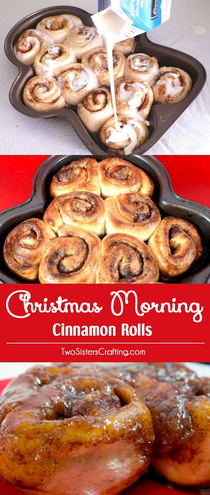 These Christmas Morning Cinnamon Rolls are so simple to make and taste amazing. They have been a Holiday breakfast tradition for our family for as long as we can remember. Give this Christmas Breakfast idea a try this year, you won't be sorry! Pin these yummy Cinnamon Rolls for later and follow us for more Christmas Food ideas.