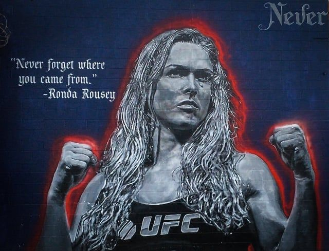 August 13, 2016 Never forget where you came from…  Ronda Rousey