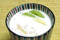 Coconut milk contains konjac