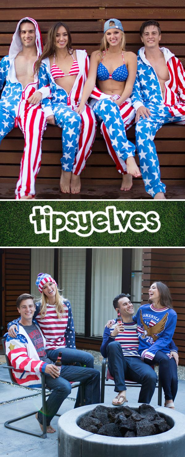 Freedom is never out of season! Cozy up with patriotic sweaters, jackets, and jumpsuits from Tipsy Elves!