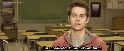 Dylan O'Brien gif ~ Awkward turtle