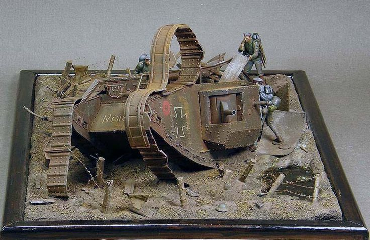1 35th scale wwi diorama featuring the emhart mark iv for Scale model ideas