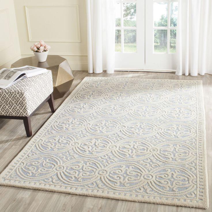 safavieh handmade cambridge moroccan light blue ivory rug 4u0027 square cam123a