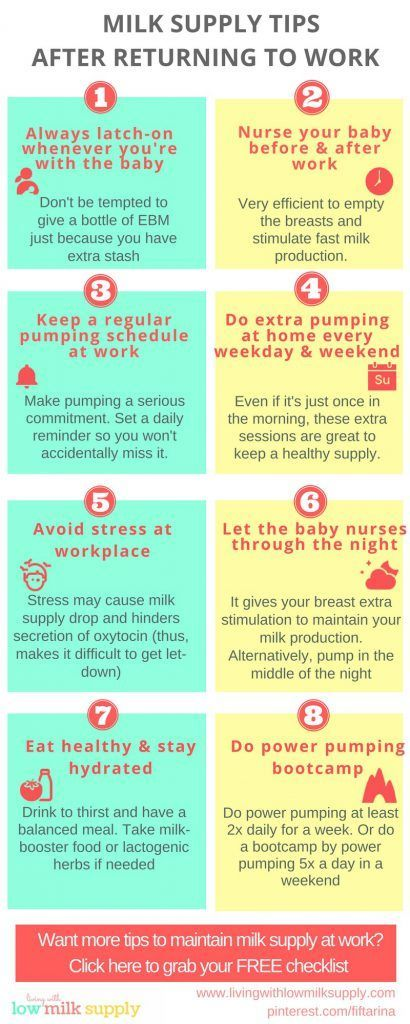Returning to work? Check out these practical tips to maintain milk supply while working. Read the article and grab the FREE checklist.