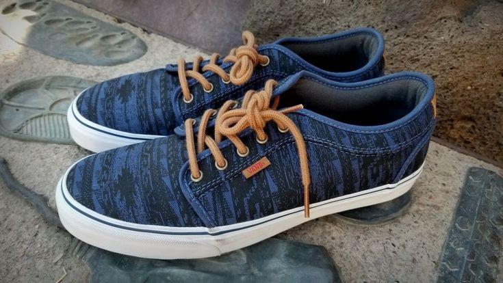 VANS CHUKKA LOW Native Stripes Blue Men's size 12 NEW #VANS #Skateboarding