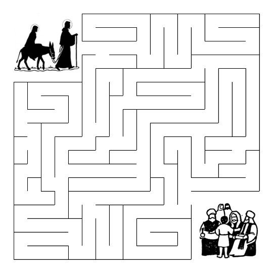 Mary And Joseph Search For Jesus Maze Jesus Birth