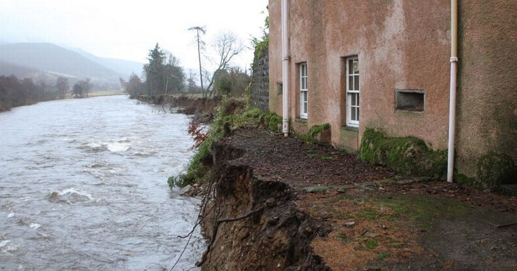 Abergeldie Castle, close to the Queen's Balmoral estate, is just one of the homes at risk after the River Dee swept away land