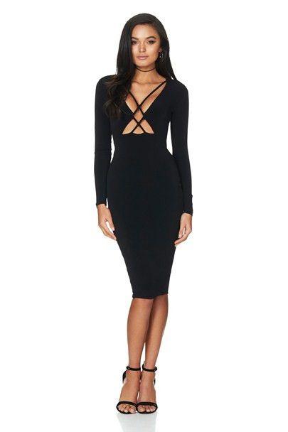 Nookie - Highness Long Sleeve Midi Dress