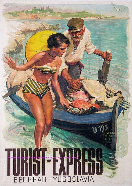Belgrade • Yugoslavia (Now Serbia) _________________________ #Vintage #Travel #Poster