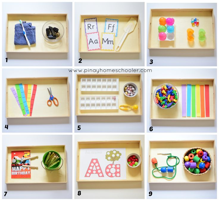 Montessori-Inspired Learning activities for 28 months toddler and older.