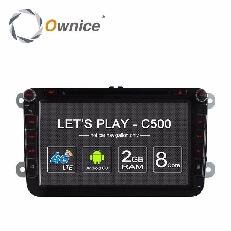 Ownice C500 Android 6.0 Octa Core Radio Car DVD Player for VW Golf mk6 5 Polo Jetta Tiguan Passat B6 5 cc skoda octavia 4G SIM