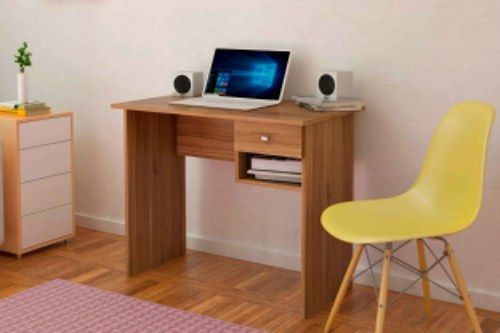 Kids Study Desk Writing Table Drawer Shelf School Children Computer Table Brown