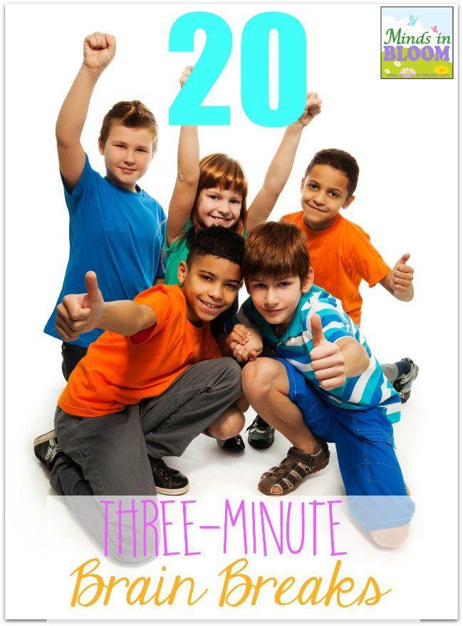 20 Fun and Engaging Three-Minute Brain Breaks