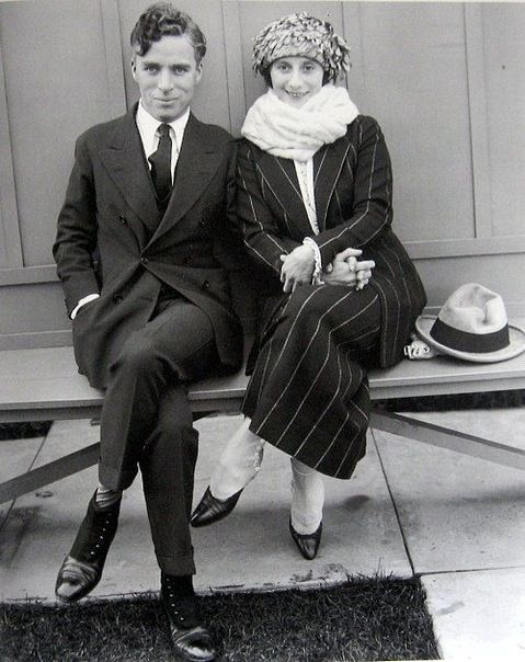 Charlie Chaplin and prima ballerina Anna Pavlova - c. 1922 (Look at the arch on her feet!)