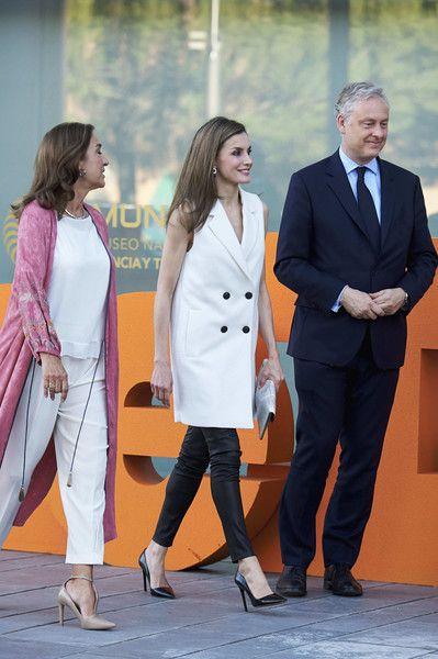 Queen Letizia of Spain (C) attends 'Famelab' 2017 at the Museo Nacional de la Ciencia y Tecnologia (MUNCYT) on May 24, 2017 in Madrid, Spain.