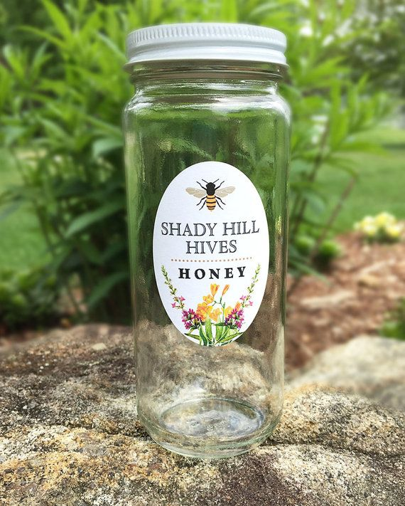 Honey Jar Labels Honey Stickers Beekeeping by GalleryintheGarden