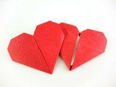 Anleitung: Origami Herz mit Geheimfach - Handmade by Frizzi                                                                                                                                                                                 Mehr
